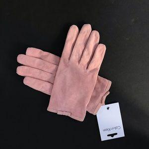 Calvin Klein 100% Suede Gloves L/M